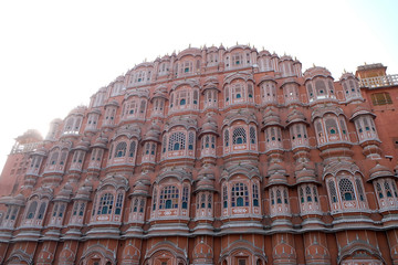 Hawa Mahal, Winds Palace in Jaipur, Rajasthan, India. Jaipur is the capital and the largest city of Rajasthan