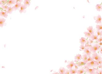 桜 舞い散る 和柄