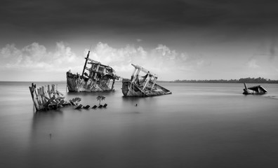 the wreck of ship