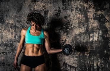Athletic fitness female model