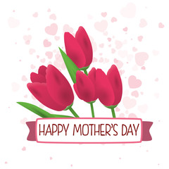 happy mothers day greeting card vector illustration eps 10
