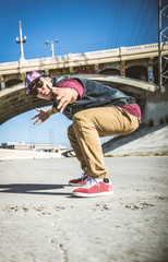 Breakdancer perfrming tricks