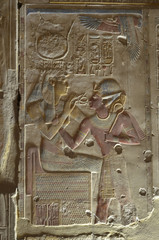 Relief  im Tempel von Abydos
