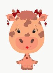 funny giraffe girl