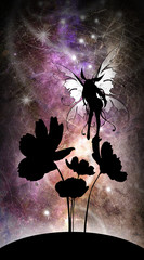 Curiosity my second name - anime fairy silhouette art photo manipulation