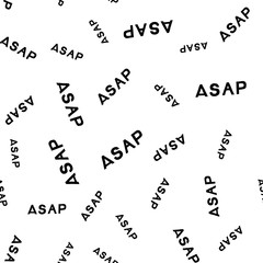 ASAP - hand drawn lettering abbreviation Seamless Pattern. Vector illustration quote Backdrop. Handwritten inscription phrase for wrapping, cover, case, office, presentation, t-shirt print, poster .