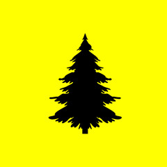 Christmas tree icon. isolated sign