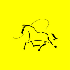 horse iicon. isolated sign