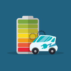 ecology car electric battery vector illustration eps 10