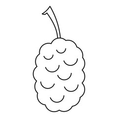 Blackberry icon, outline style