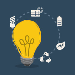 bulb light clean ecology sustainable vector illustration eps 10