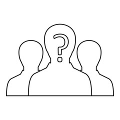Group of business people icon, outline style