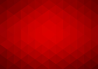 Abstract red geometric vector background