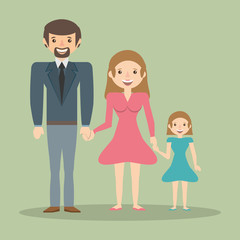 family parents child member vector illustration eps 10