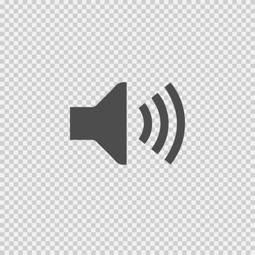 Sound symbol vector icon eps 10 on transparent background.