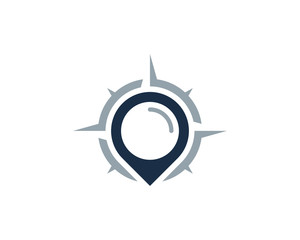 Compass Point Icon Logo Design Element