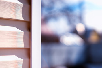 House siding daylight background