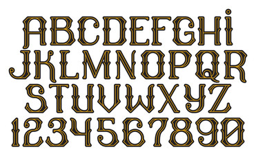 Decorative vintage font Time Machine
