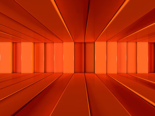 Abstract background of rows of lines. 3D rendering