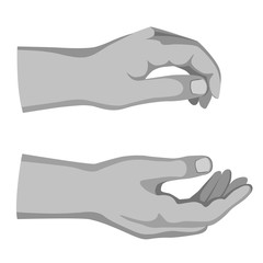 Two man hands