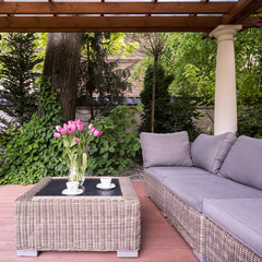 Relaxation space in garden