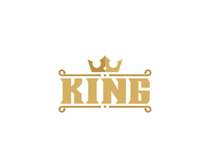 King Lettermark Icon Logo Design Element