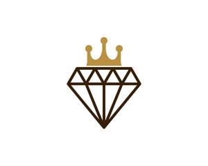 Diamond King Icon Logo Design Element