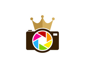 King Photography Icon Logo Design Element