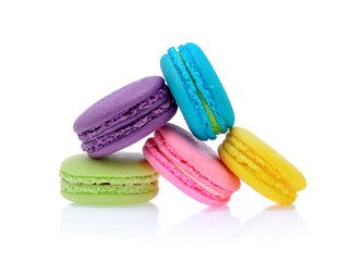 Wall Murals Grass macaroons or macaron on white background