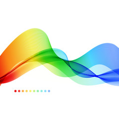 Abstract colorful background. Spectrum wave.