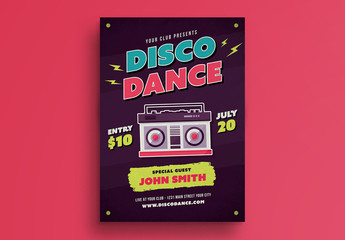 Disco Dance Poster Layout