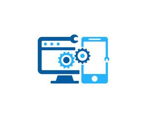 Device Repair Icon Logo Design Element