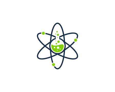 Science Lab Icon Logo Design Element
