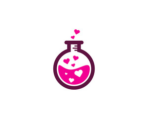 Science Love Lab Icon Logo Design Element