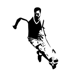 Abstract basketball player vector silhouette