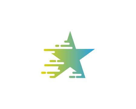Speed Star Icon Logo Design Element