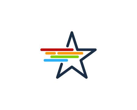 Fast Star Icon Logo Design Element