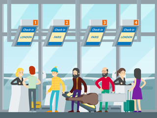 Passengers In Airport Concept