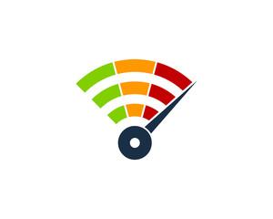 Wifi Speed Icon Logo Design Element