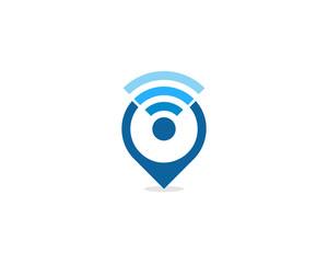 Local Wifi Icon Logo Design Element