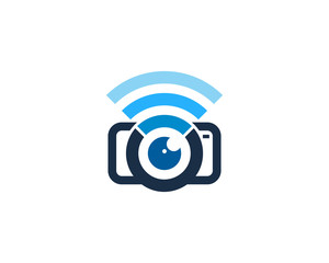 Camera Wifi Icon Logo Design Element