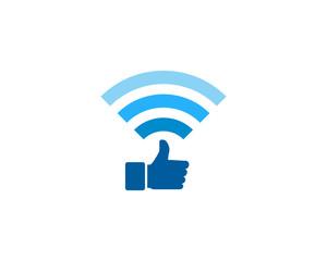 Good Wifi Icon Logo Design Element