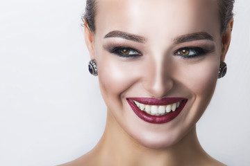 Young beautiful woman with gorgeous smile