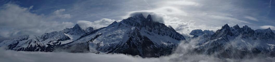 Aiguille du Chardonnet, Aiguille Verte, Les Drus and Aiguilles de Chamonix, Mont Blanc Range