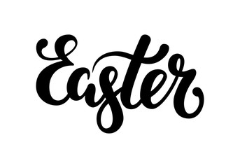 Easter Hand drawn calligraphy and brush pen lettering