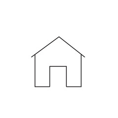 home icon vector, solid logo, pictogram isolated on white, pixel