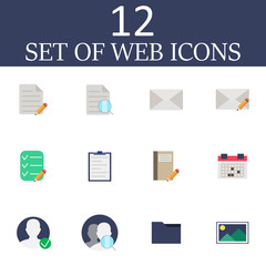 Internet vector icons set, modern web symbol collection,colorful