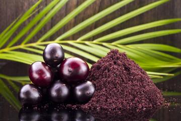 The amazon acai fruit (Euterpe oleracea)