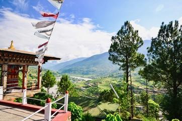 Beautiful Landscape View of Punakha, Bhutan