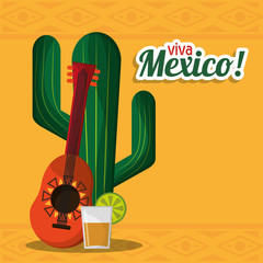 viva mexico party celebration image vector illustration eps 10